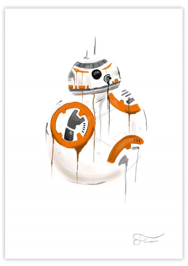 BB8 Ilustracion Carlos Forcen print