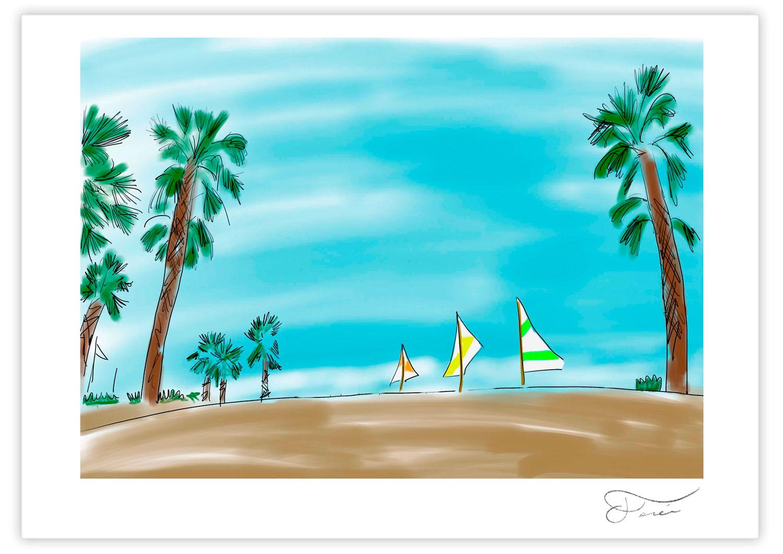 Beach summer Carlos Forcen Ilustracion
