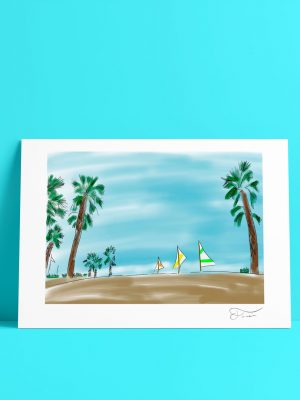 Beach summer Carlos Forcen Ilustracion digital