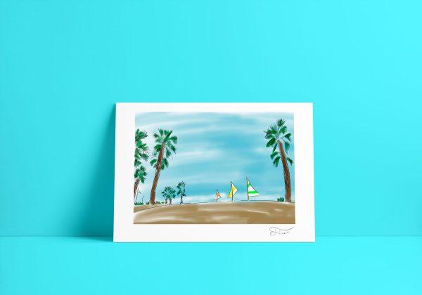 Beach summer Carlos Forcen Ilustracion digital