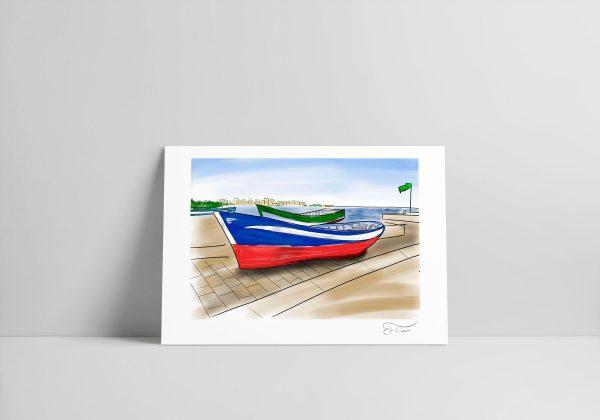 Barcos pesqueros Carlos Forcen Ilustración digital