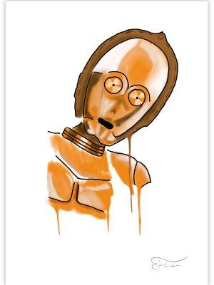 C-3PO Carlos Forcen Ilustracion digital
