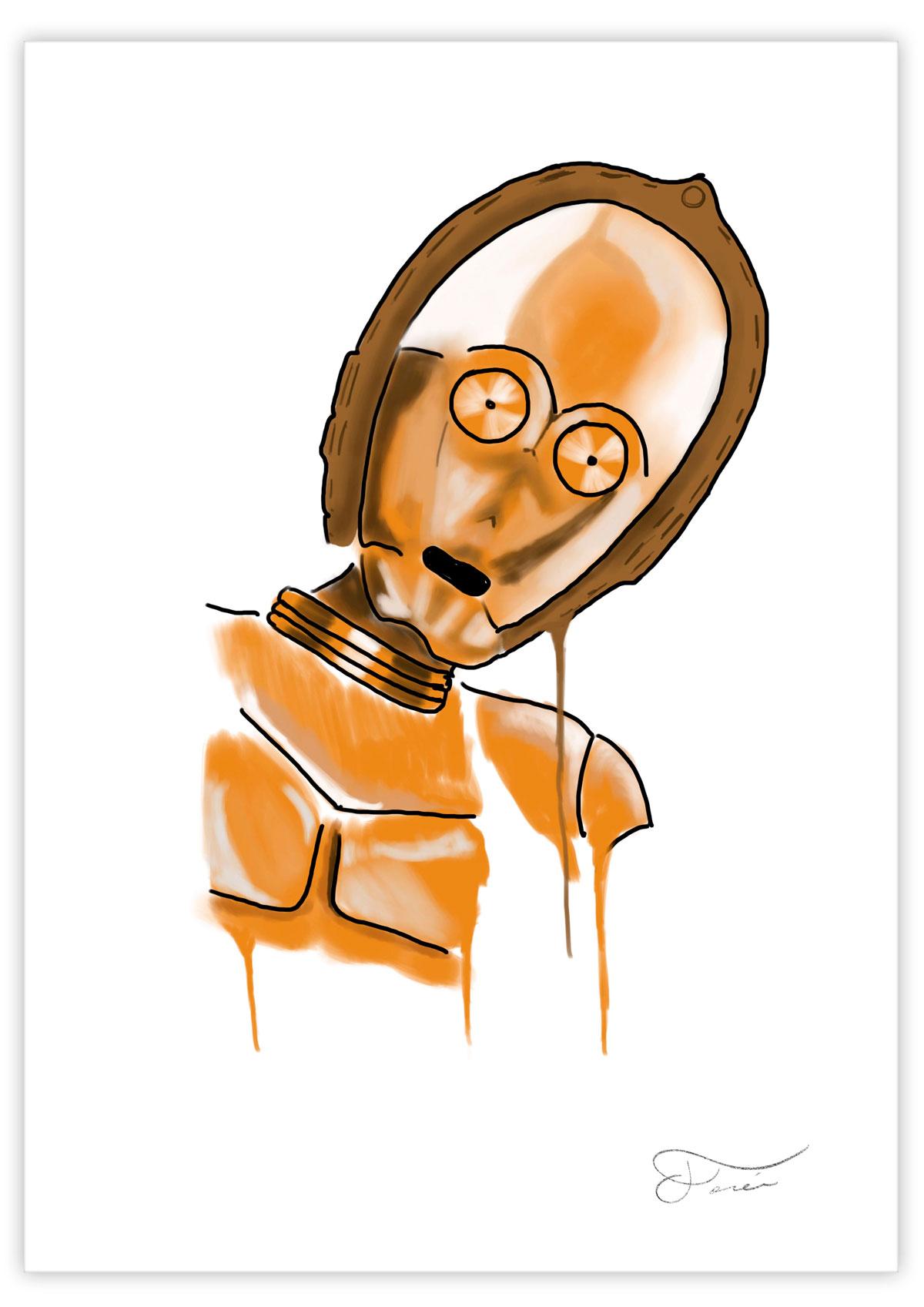 C-3PO Carlos Forcen Ilustracion