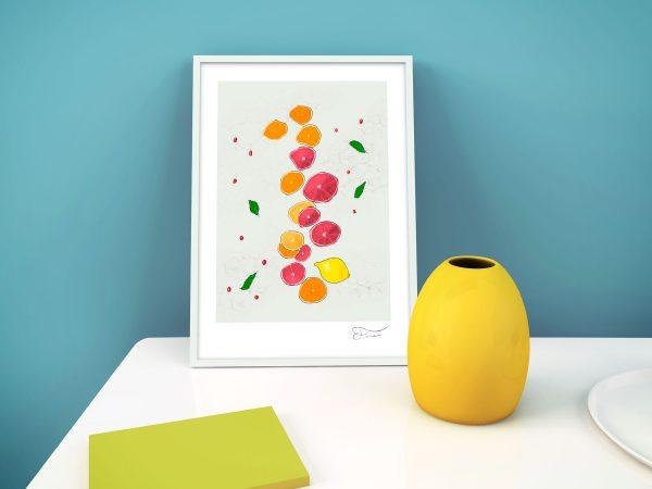 Citrus ilustración digital Carlos Forcén