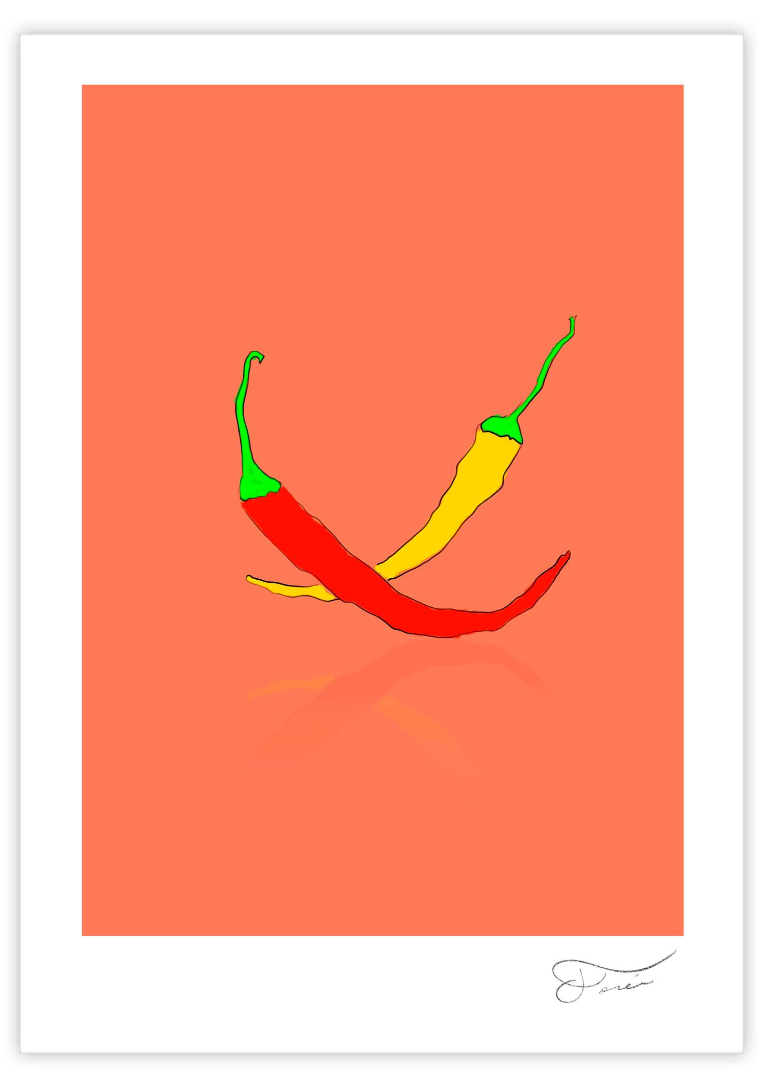 Guindillas Ilustración digital Carlos Forcen