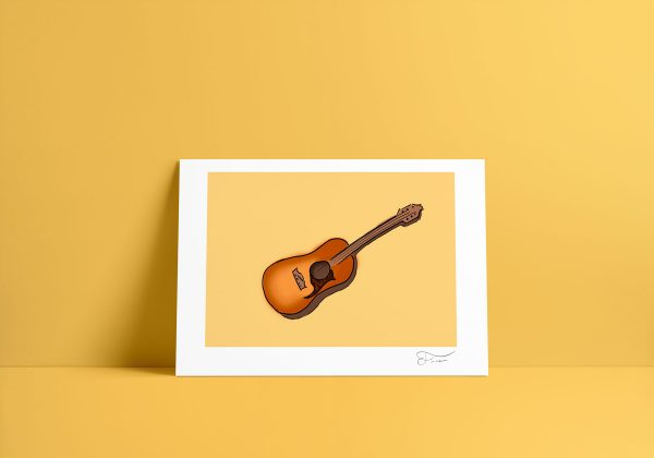 Guitarra ilustración digital Carlos Forcen