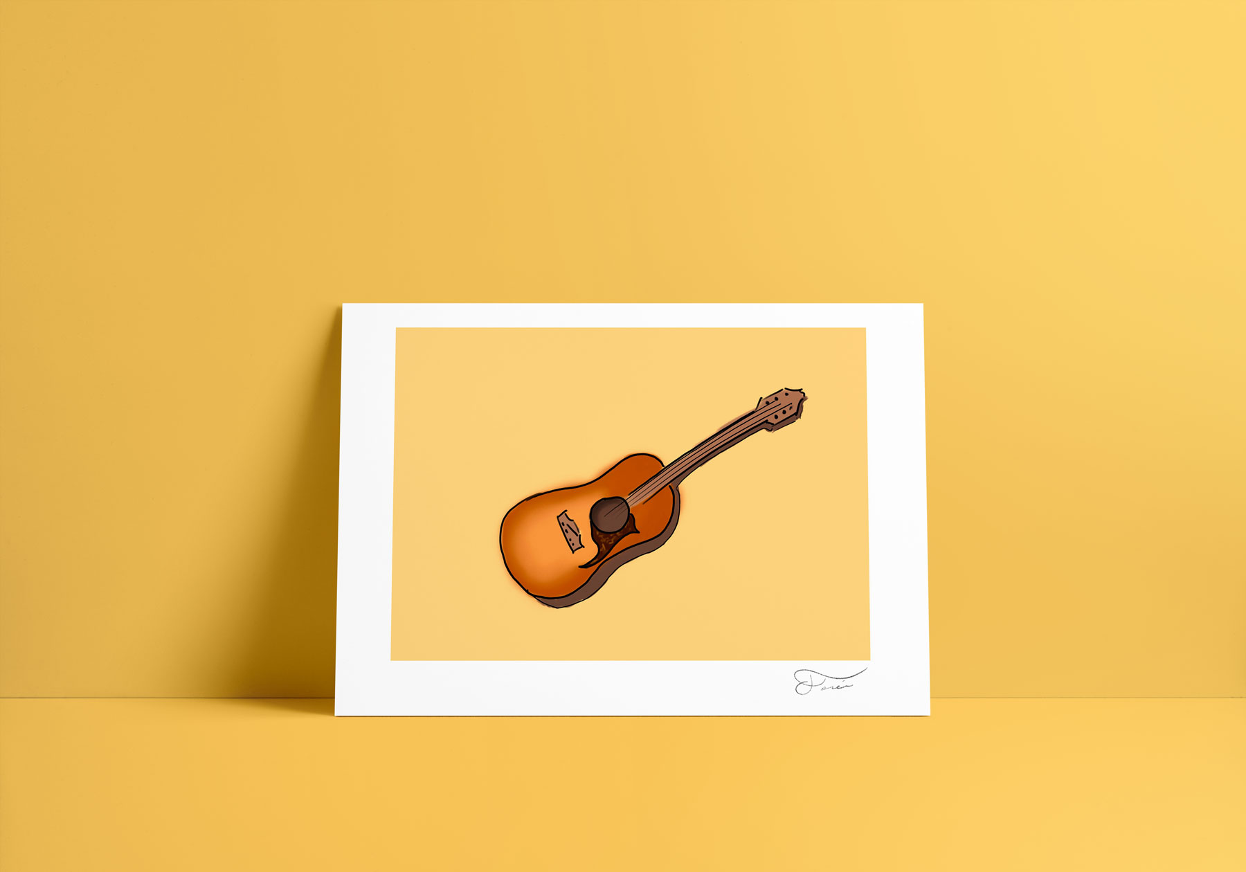 Guitarra ilustración digital Carlos Forcen