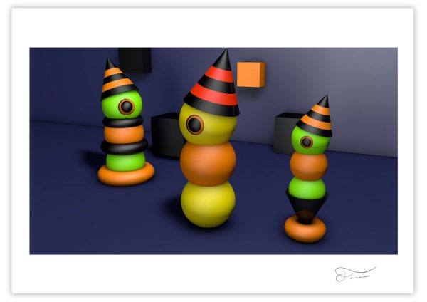 Halloween worms 3D Carlos Forcen creación