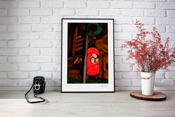 Farol Japonés ilustración digital Carlos Forcén