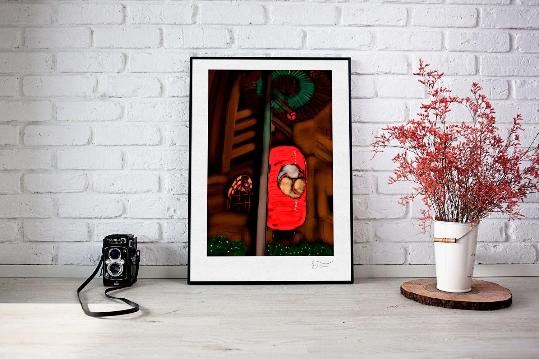Farol Japonés ilustración Carlos Forcén