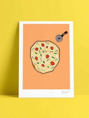 Pizza ilustración digital Carlos Forcén