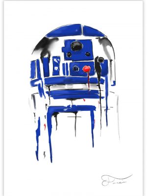 R2-D2 Star Wars Ilustracion digital