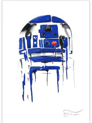 R2-D2 Star Wars Ilustracion digital
