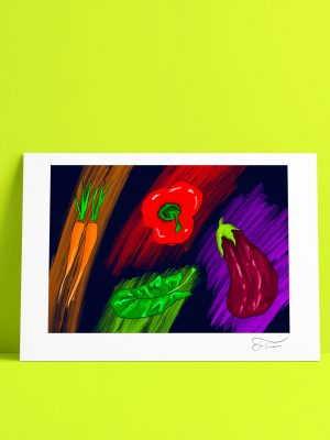 Verduras ilustración digital Carlos Forcén