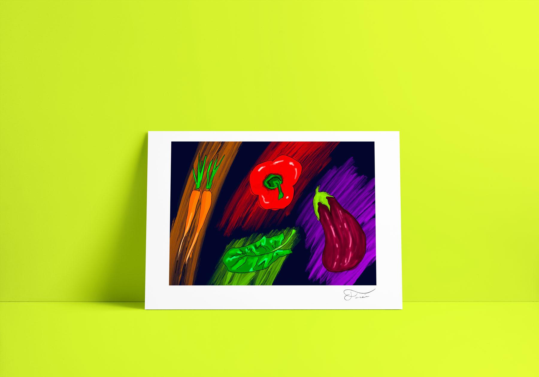 Verduras ilustración Carlos Forcén