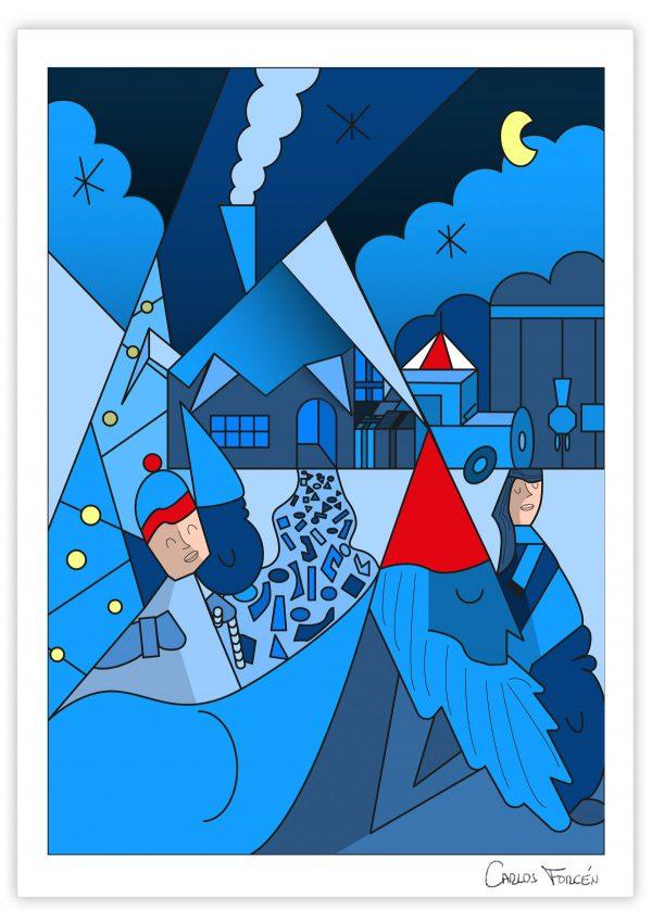 Christmas City - Ilustración Carlos Forcen