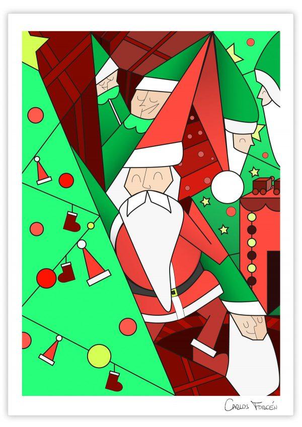 Santa Christmas - Ilustracion