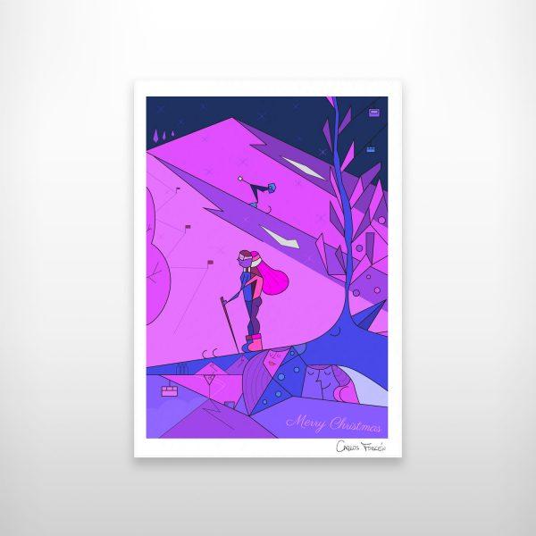 White Christmas - Ilustracion de Carlos Forcen