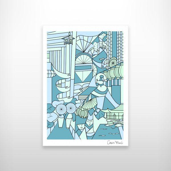 """Ilustracion """"Kioto"""" realizada por Carlos Forcen"""