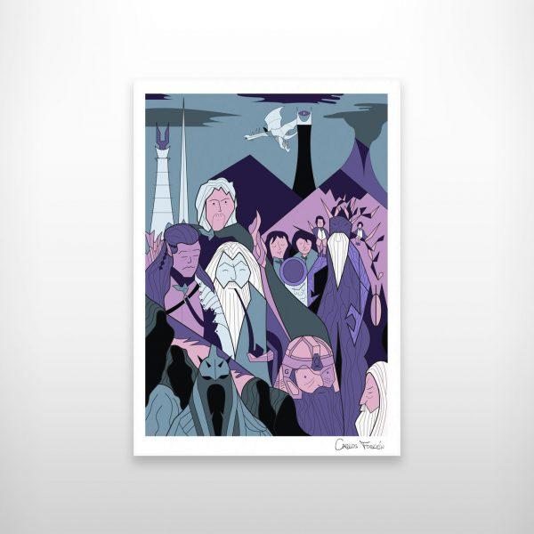 El señor de los anillos, dibujo Carlos Forcen